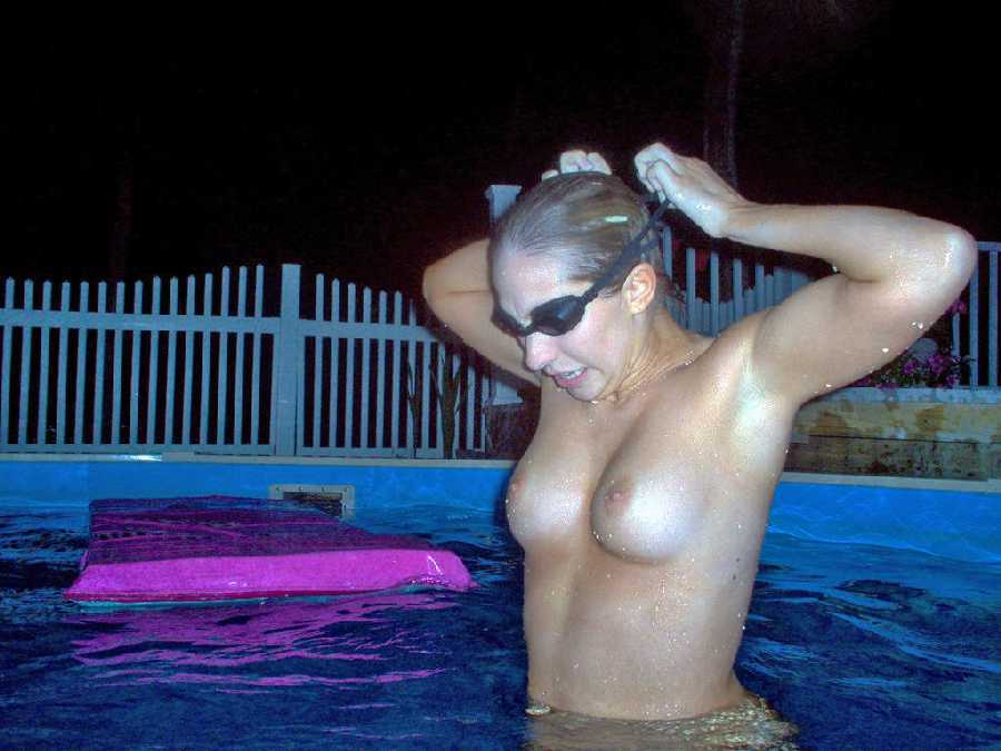 Nude college girls swimming