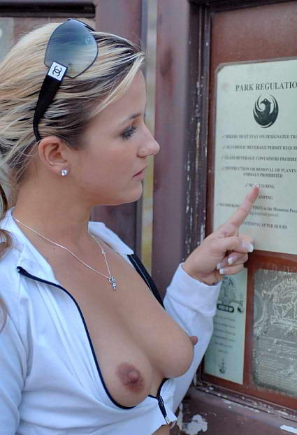Tits Out In Public 116